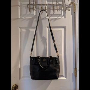 Kate Spade Black Medium Leather Satchel